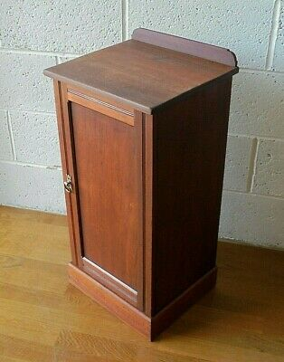 Antique Edwardian Hindley & Sons London Mahogany Bedside Pot Cupboard