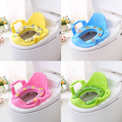 Baby Handle Toilet Seat Soft Pad Portable Cushion Trainer Potty Traning Safety