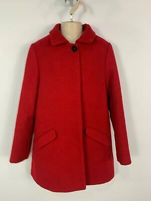 Girls Zara Red Smart/Casual Button Winter Over Coat Jacket Kids Age 13/14 Years