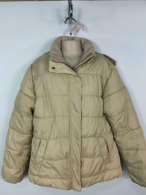 Girls Zara Beige Casual Winter Padded Hooded Rain Coat Jacket Kids Age 16 Years