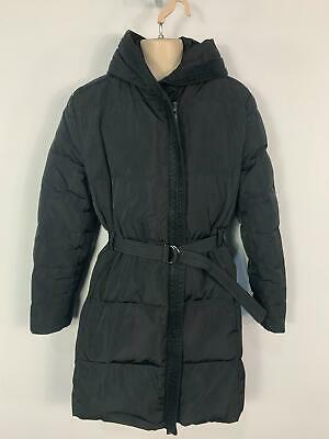 Girls Mango Black Casual Winter Down Padded Rain Coat Jacket Kids Age 11/12 Year