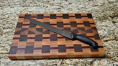 Beautiful End Grain Cutting Board Butcher Block Maple Walnut Cherry Purple Heart