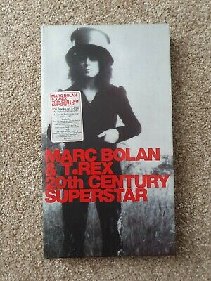 Marc Bolan & T.rex 20th Century Superstar 4 Cd Box Set With Book VERY RARE
