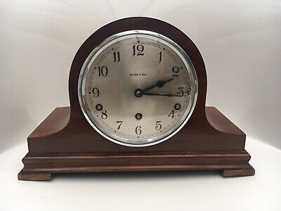 Walker & Hall Garrard Movement Mahogany Cased Westminster Mantel Clock