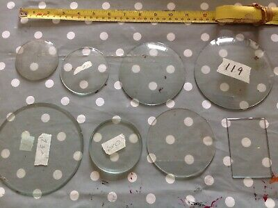 Clock Glass Various Sizes Job Lot Ex Clockmakers Spare Parts Ref 11