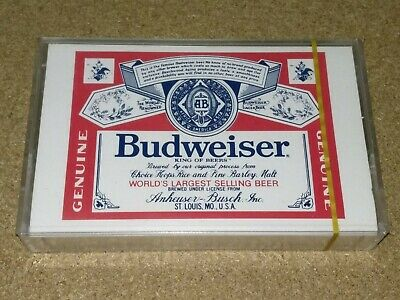 Vintage cassette Budweiser TYPE1 Audio Blank tape new sealed nice *Ultra rare**