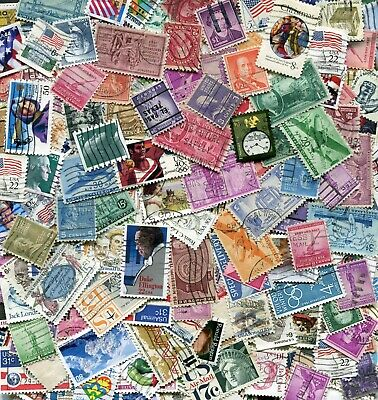 USA United States America Off-paper Stamp Lot Mix - 25 grams / 400 stamps