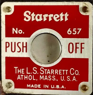 Starrett 657 Magnetic Push Off Base with Post Assembly