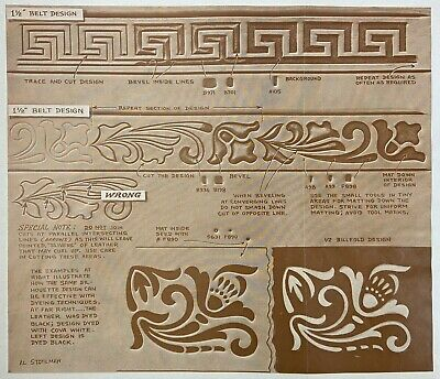 Vintage Doodle Page Silhouette Carving Series 7-B Page 9 Leather Craftool