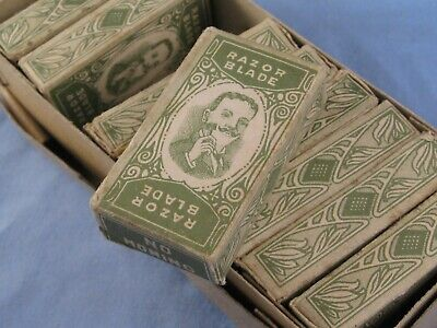 Antique Vintage Safety Razor Spare Blades Barbers Shop Box Spares Packets