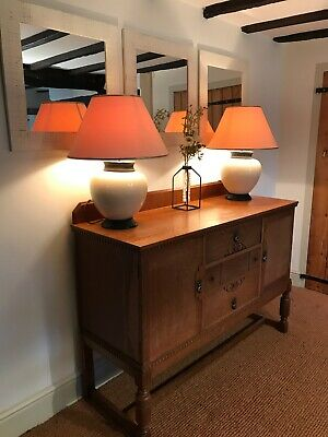 Arts & Crafts-style Golden Oak Sideboard Hand Made