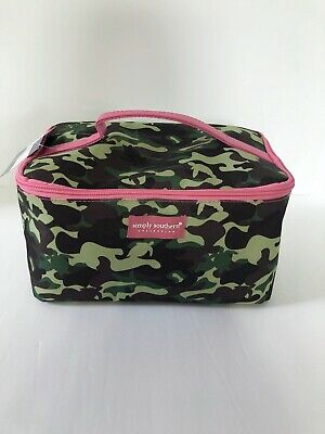 Simply Southern Glam Makeup Bag Green Camo With Pink