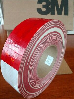 "3M 983-32 red and white Conspicuity(29858) Tape 2"" x 150ft"