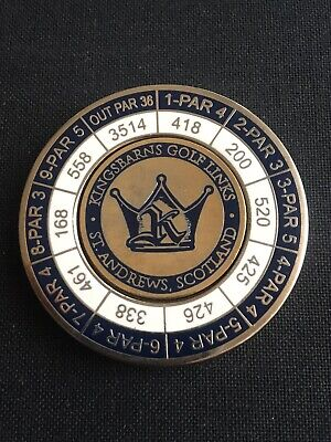 KINGSBARNS Golf Ball Marker With Removable
