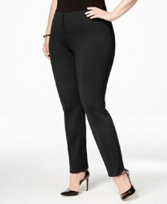 $79 New Alfani Hollywood Skinny Ponte Pants Women's Plus Size 16W Black NWT