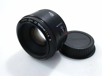 Canon EF 50mm f/1.8 II Prime Lens with Rear Lens Cap