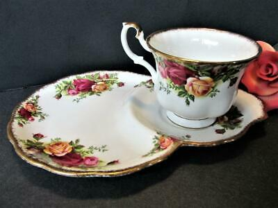 Royal Albert Bone China Old Country Roses Tennis Snack Set Teacup / Plate