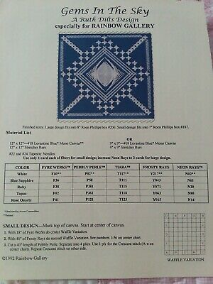 Gems In The Sky A Ruth Dilts Design Rainbow Gallery Needlepoint Pattern