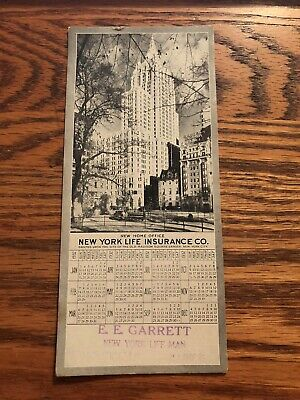 Vintage 1932 New York Life Insurance Co Home Office CALENDAR !  Advertising !