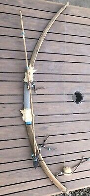 AUTHENTIC HANDMADE Native American NAVAJO Bow and Arrow