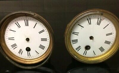 2 Antique French Clock Movements For Spares And Repairs