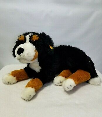 "Steiff BERNESE MOUNTAIN DOG Plush 24"" Stuffed Animal AKC American Kennel Club"