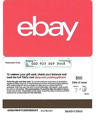 FOR COLLECTION ONLY - 1 x USED Australia ebay gift card -RED, NO CREDIT VALUE