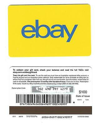FOR COLLECTION ONLY - 1 x USED Australia ebay gift card -Yellow, NO CREDIT VALUE