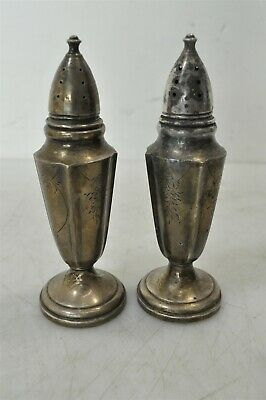 Vintage Fisher Weighted Sterling Silver .925 Salt & Pepper Shakers 108g