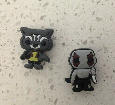 Guardians of Galaxy Rocket & Drax Jibbitz Crocs Shoe Bracelet Wristband Charm