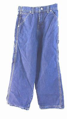 Falls Creek Boys size 7 Cotton Dark Wash Relaxed Carpenter Jeans Pant Blue CHOP
