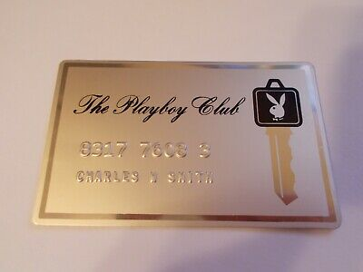 VTG THE PLAYBOY CLUB Gold Metal Credit Card EXCELLENT CONDITION