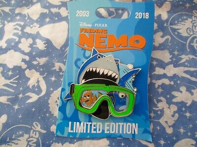Disney Pixar Parks Finding Nemo Googles with Shark Limited Edition Pin
