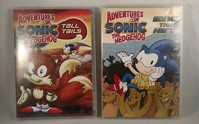 Adventures Of Sonic The Hedgehog Tall Tails Let S Race 2 Dvds To Choose 3 99 Picclick