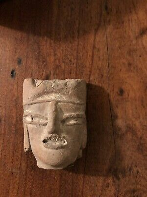 Ancient Pre-Columbian Head Fragment
