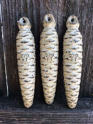 A set of 3 German Black Forest Cuckoo Clock Weights