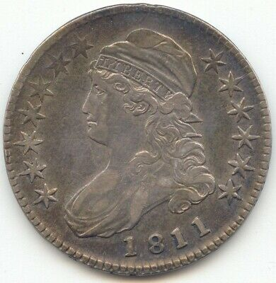 1811 Capped Bust Half Dollar, Lustrous XF