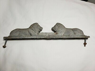 Vintage Lion Fence Topper chain link cast aluminum fencing piece