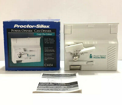 Proctor Silex Under The Cabinet Can Opener C4434 White Excellent Condition
