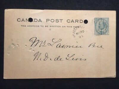 1905  ***King Edward Vii***  Beauceville, Quebec  One Cent Canada Post Card!