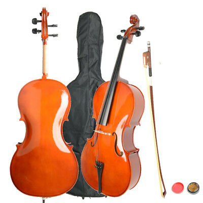 Hot Sale High Quality 4/4 Size Retro Basswood Cello with Bag Bow Rosin Bridge