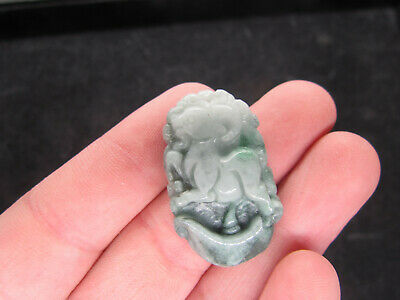 AAAAA Chinese Hand-carved aristocratic wearing Jadeite jade pendant sheep
