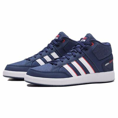 Mens Adidas All Court Mid Navy/White Trainers (TGF45) RRP £54.99