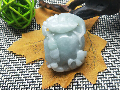 Chinese Hand-carved Delicate and natural Jadeite jade brave troops pendant