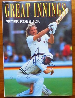 GREAT INNINGS-Hand Signed By 4 Legends-Botham,Hick,Gower & Greig-RARE With COA