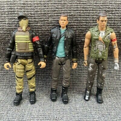 3x Playmates Terminator Salvation Marcus John Connor Figure Toys Collect 2009
