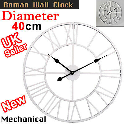 40Cm Extra Large Roman Numerals Skeleton Wall Clock Big Open Face Round