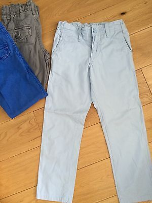 Boys GAP cotton Chinos Trousers 7yr STRAIGHT LEG powder blue - MINT! RRP£28