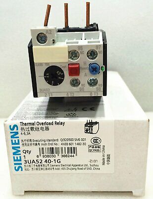 NEW 1PC IN BOX SIEMENS Thermal Overload Relay 3UA5240-1G 4-6.3A