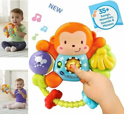 Educational Toys for 3 Months 1 2 3 Years Old Baby Toddler Singing Monkey Rattle